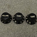 1976-77 Black Knobs for Stratocaster