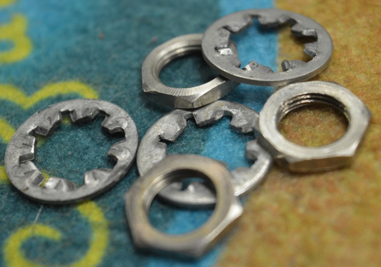 1957 1959 Fender Lock Washers And Nuts Hardware Fender