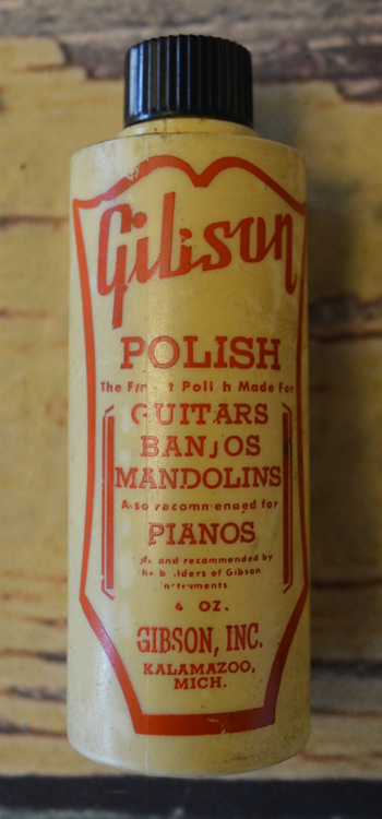 Vintage Gibson Instrument Polish Bottle - ID: 2686