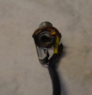 1958-59 Input Jack with Braided Wire - ID: 2695