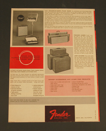 Original 1963 Fender Catalog