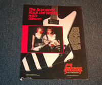 The Scorpions Gibson Advertisement  -  Cat No:   -  Click To Order  -  ID: 1738