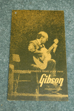 1964 Gibson hang tag  -  Cat No:   -  Click To Order  -  ID: 607