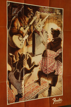 1975 Fender Goldilocks Poster  -  Cat No:   -  Click To Order  -  ID: 616