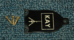 1961 Kay Truss Rod Cover  -  Cat No:   -  Click To Order  -  ID: 1660