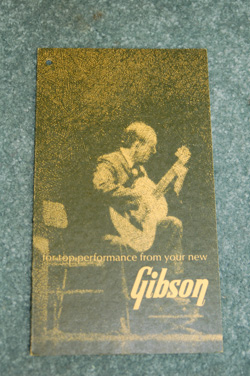 1966 Gibson L48 hang tag  -  Cat No:   -  Click To Order  -  ID: 609