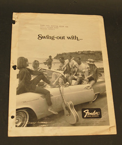 1966 Fender Price List  -  Cat No:   -  Click To Order  -  ID: 839