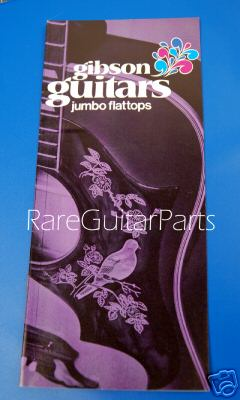 This 1970 Gibson Guitars Jumbo Flattops Pamphlet  -  Cat No:   -  Click To Order  -  ID: 508