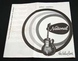 1959 National Guitar/ Amp Catalog  -  Cat No:   -  Click To Order  -  ID: 846