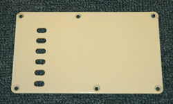Strat Backplate  -  Cat No:   -  Click To Order  -  ID: 1663