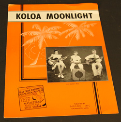 Vintage Sheet Music - Koloa Moonlight  -  Cat No:   -  Click To Order  -  ID: 769