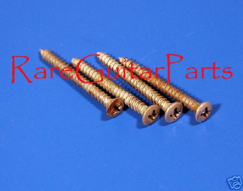 Four 1964 Fender Mustang Neck Screws  -  Cat No:   -  Click To Order  -  ID: 533