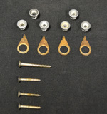 Vintage 1952-57 Gibson End Pins + Screws  -  Cat No:   -  Click To Order  -  ID: 2398