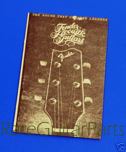 Fender Acoustic Guitar Tag  -  Cat No:   -  Click To Order  -  ID: 538