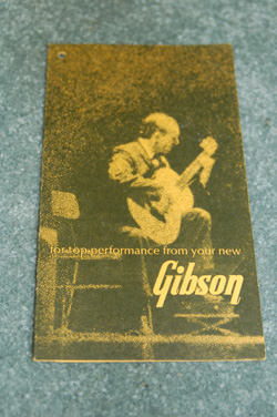 Gibson LG1 Original hang tag  -  Cat No:   -  Click To Order  -  ID: 608