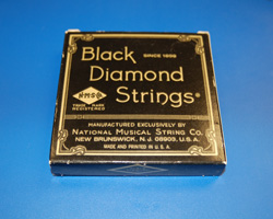 1966 Black Diamond Copper Wound Strings  -  Cat No:   -  Click To Order  -  ID: 638