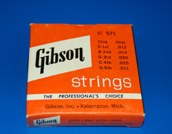 1959 Gibson Banjo String set  -  Cat No:   -  Click To Order  -  ID: 711