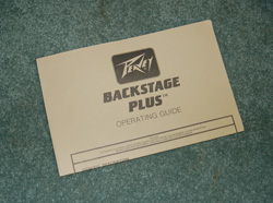 Backstage Plus owner's manual  -  Cat No:   -  Click To Order  -  ID: 707